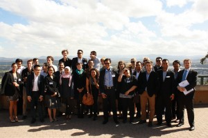 Delegates from CAUSINDY 2013 during their tour of Canberra.