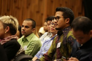 """Delegates at the """"Portrayals in the Media"""" panel at CAUSINDY 2014."""
